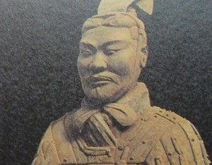A Warrior of Xian sporting a cravat
