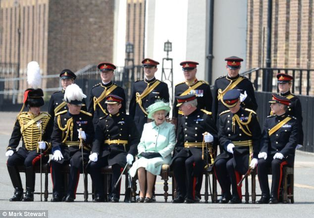 Figurehead: Yesterday she visited the Royal Horse Artillery in Woolwich Barracks