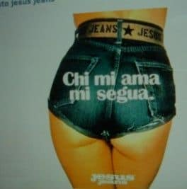 The 1971's creation by Oliviero Toscani for Jesus jeans. He shott his American girlfriend...