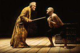 Prospero threatening Caliban