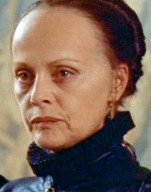 Virna Lisi playing the part of Catherine de' Medici in the movie 'Queen Margot.'