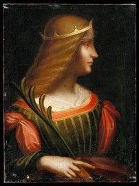 Ritratto di Isabella d'Este, dipinto attribuito a Leonardo da Vinci
