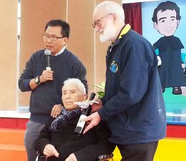 Fr. Gaetano Nicosia and Fr. Lanfranco Fedrigotti in Macau, 2015.