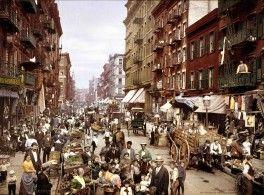Mulberry Street, New York, around 1927.