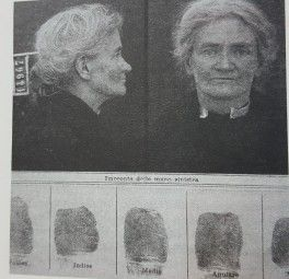 Violet Gibson poche ore dopo l'arresto.