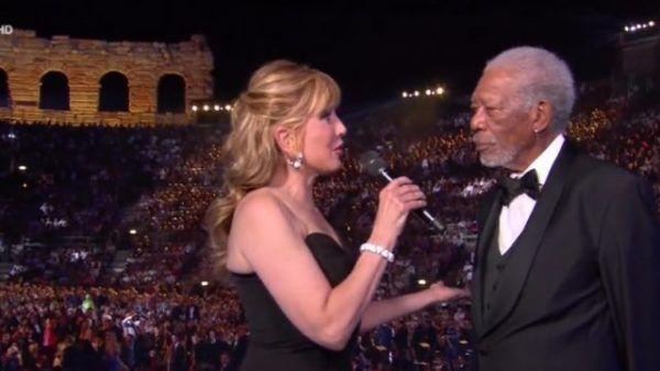 Morgan Freeman all'Arena di Verona. Ma non tutto è andato come doveva…